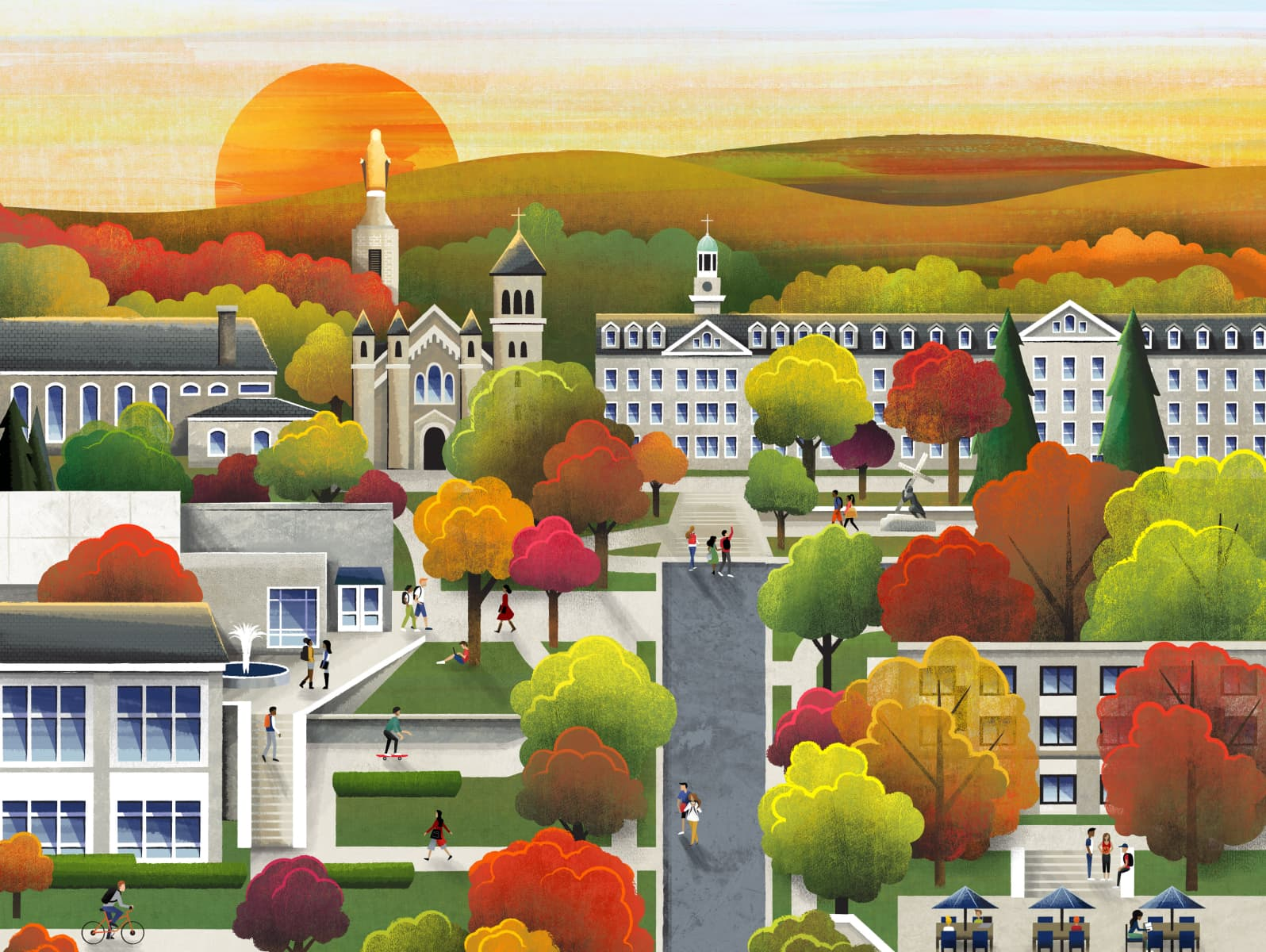 Fall Campus by Laura Moyer