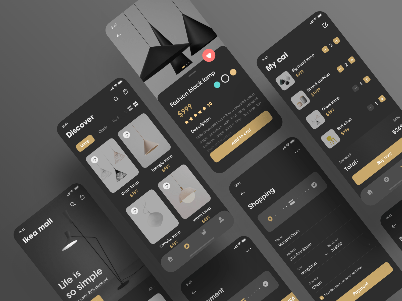 Furniture e-commerce app by Carlos